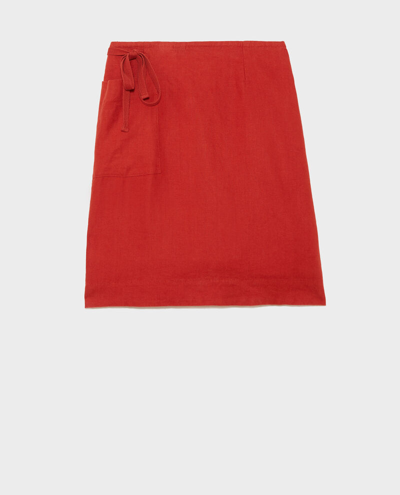 Falda cruzada de lino Ketchup Lartre