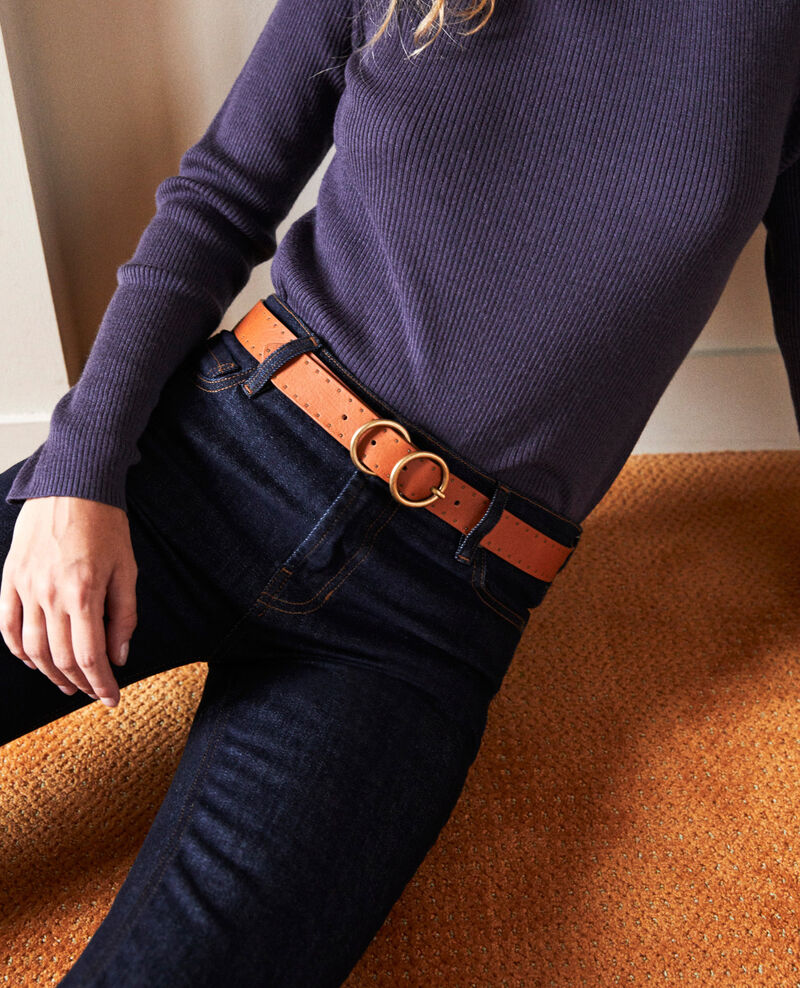 Cinturón de cuero Camel Jastud