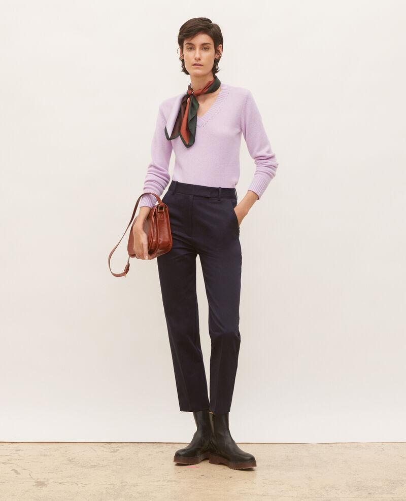 Pantalones chinos MARGUERITE, 7/8 tapered de algodón Night sky Mezel