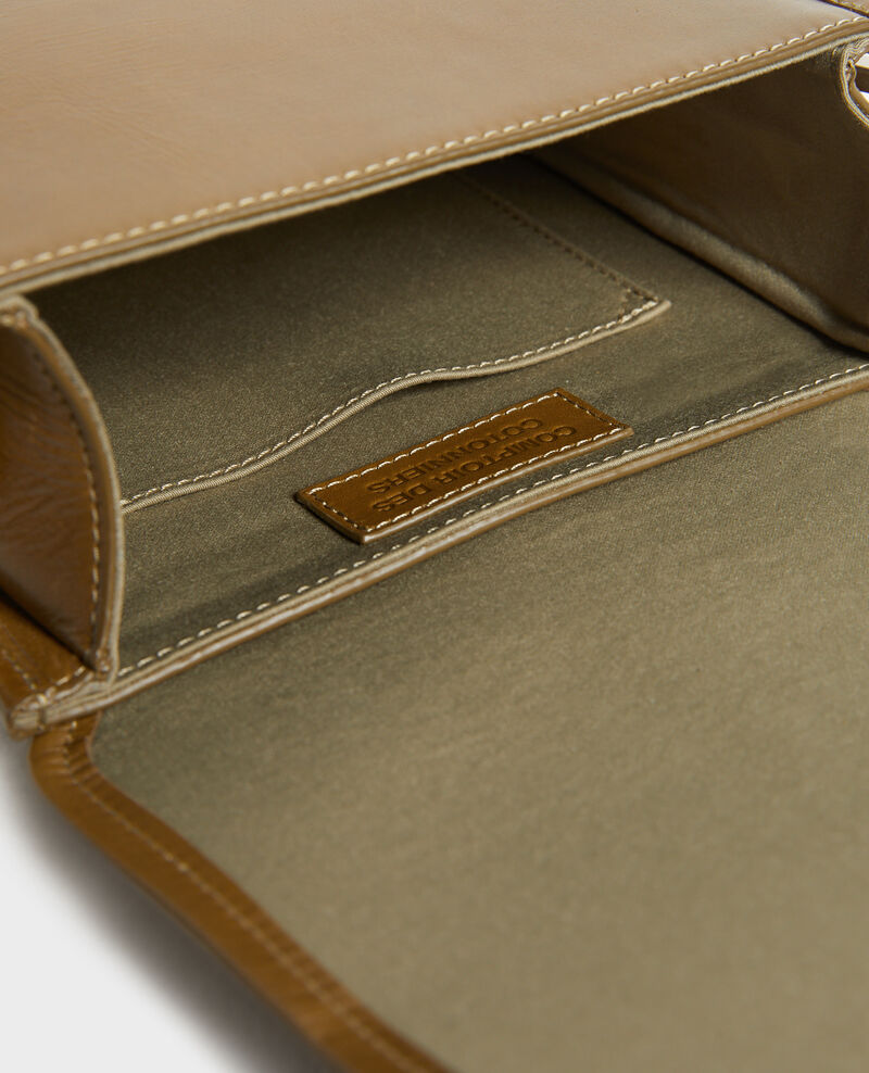 Pequeño bolso bandolera de cuero Dark olive Peretbelair