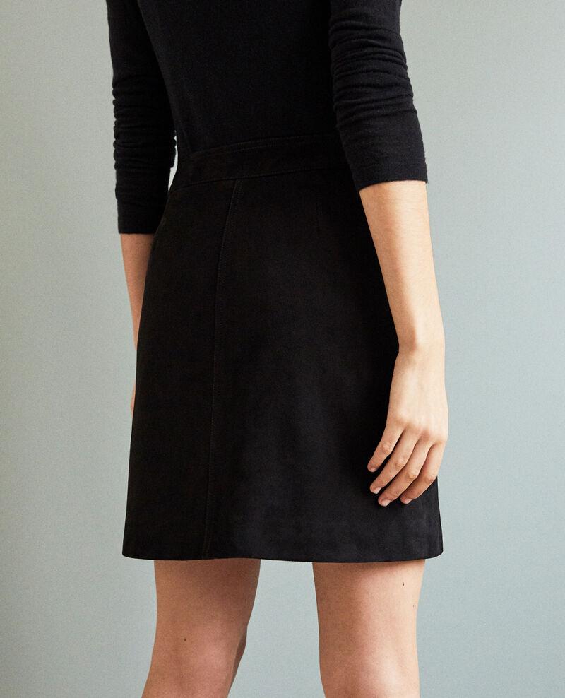 Falda corta de ante Noir Icate