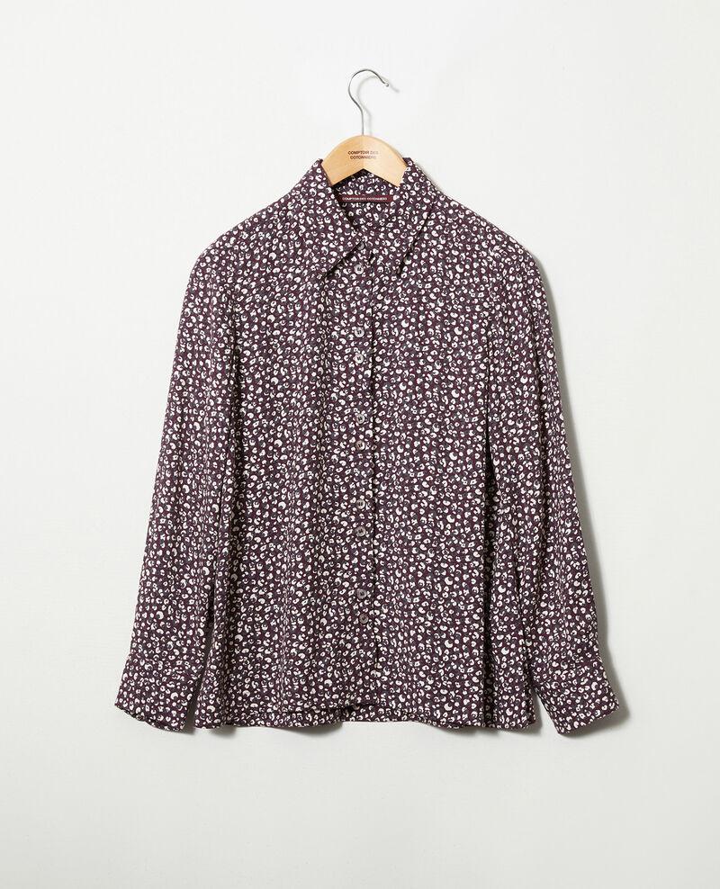 Camisa estampada Leopard potent purple Jumulus