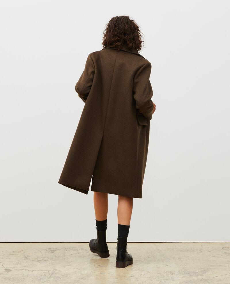 Abrigo masculino de lana y cachemir Kaki Maule