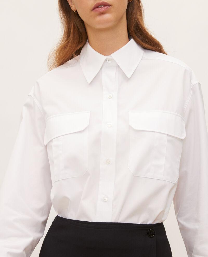 Camisa de hombre de algodón oversize  Optical white Lauryl