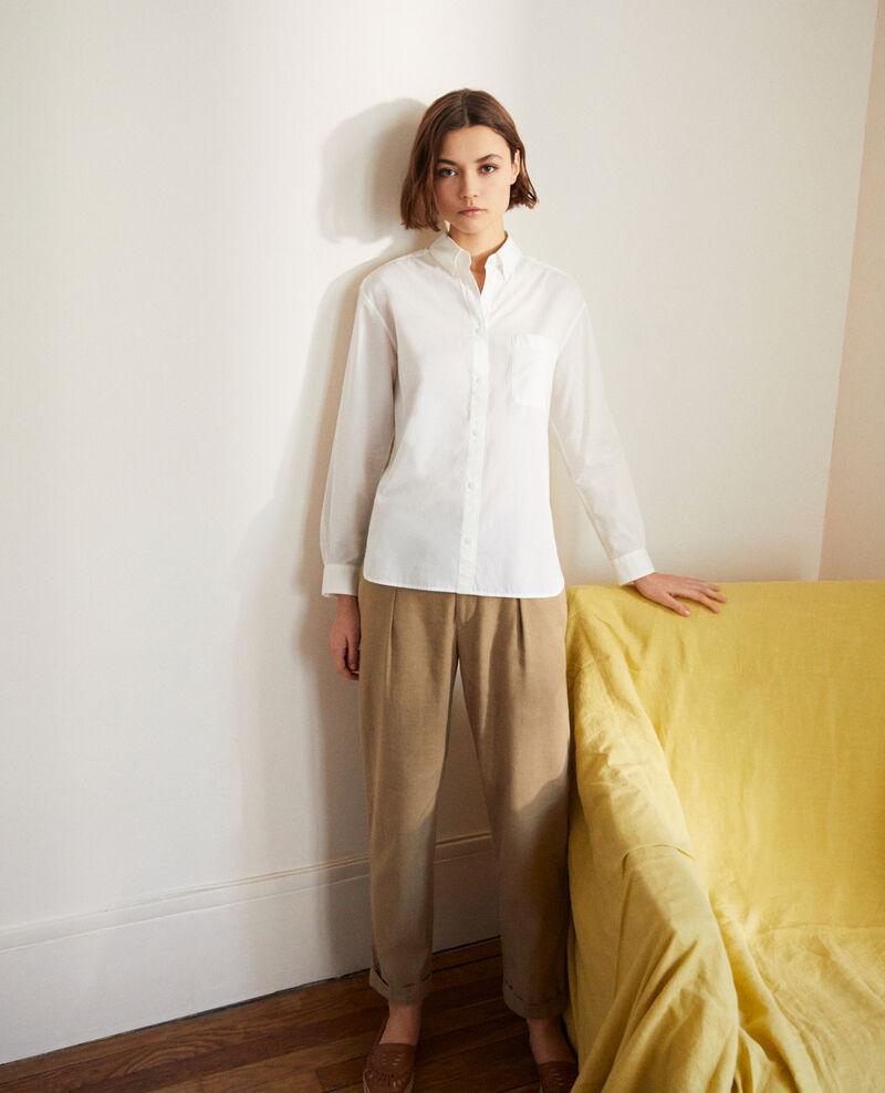 Camisa atemporal de algodón Blanc Ibouya