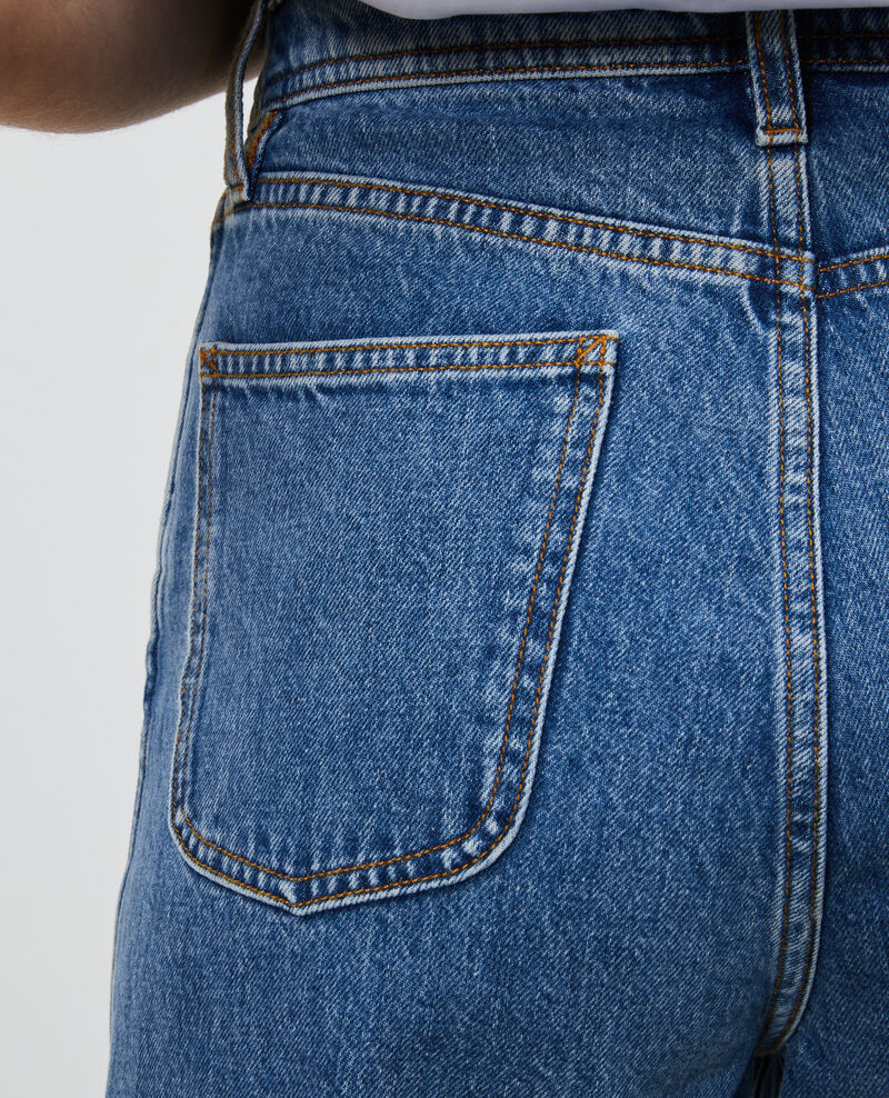 REGULAR - Jeans desteñidos talle alto y 5 bolsillos  Light denim Merleac