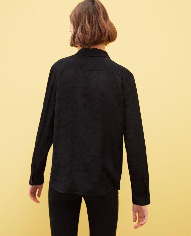 Camisa estampada Noir Ikara