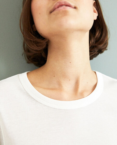 Comptoir des Cotonniers - Camiseta canalé  Off white - 6