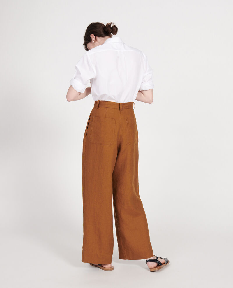 Pantalón de lino Monks robe Lafare