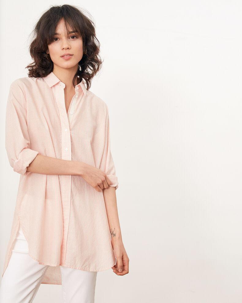 Camisa oversize rayada Tangerine stripes Freelance
