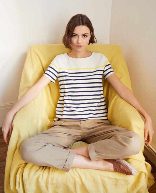 Camiseta de rayas OW/NAVY/YELLO