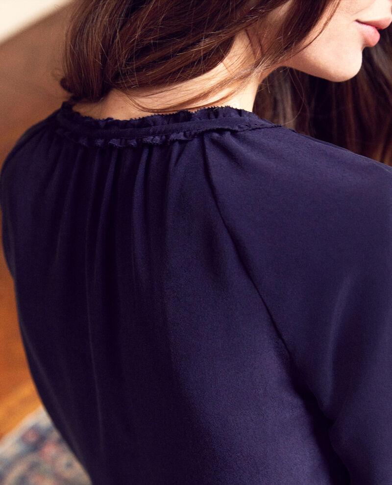 Blusa con seda Evening blue Jalandre