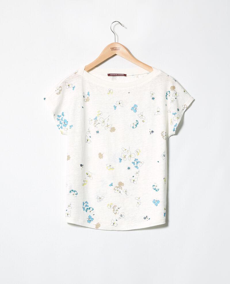 Camiseta de cuello barco Dry off white Idilika