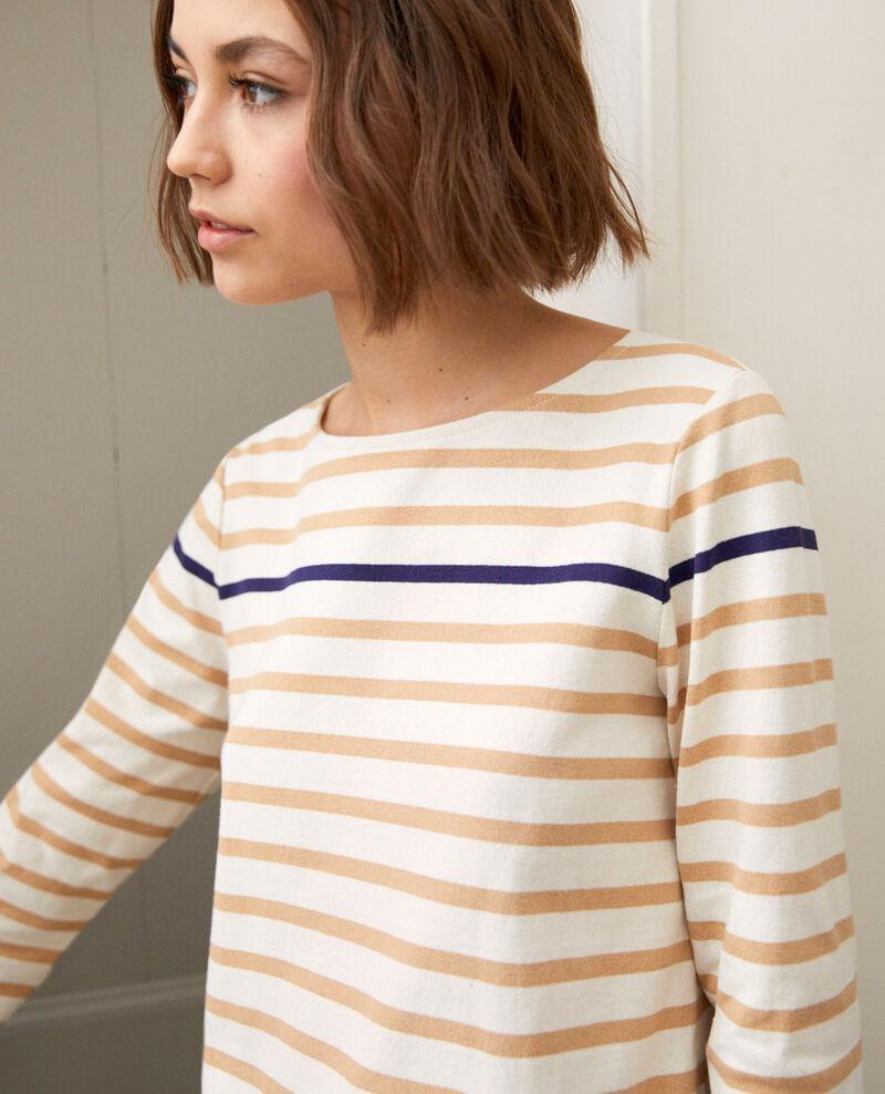 Camiseta de rayas Ow/camel/navy Isteria