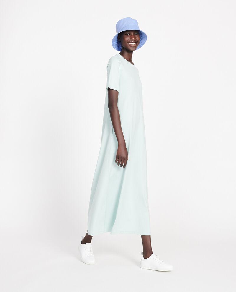 Vestido largo de algodón Blue haze Larosata