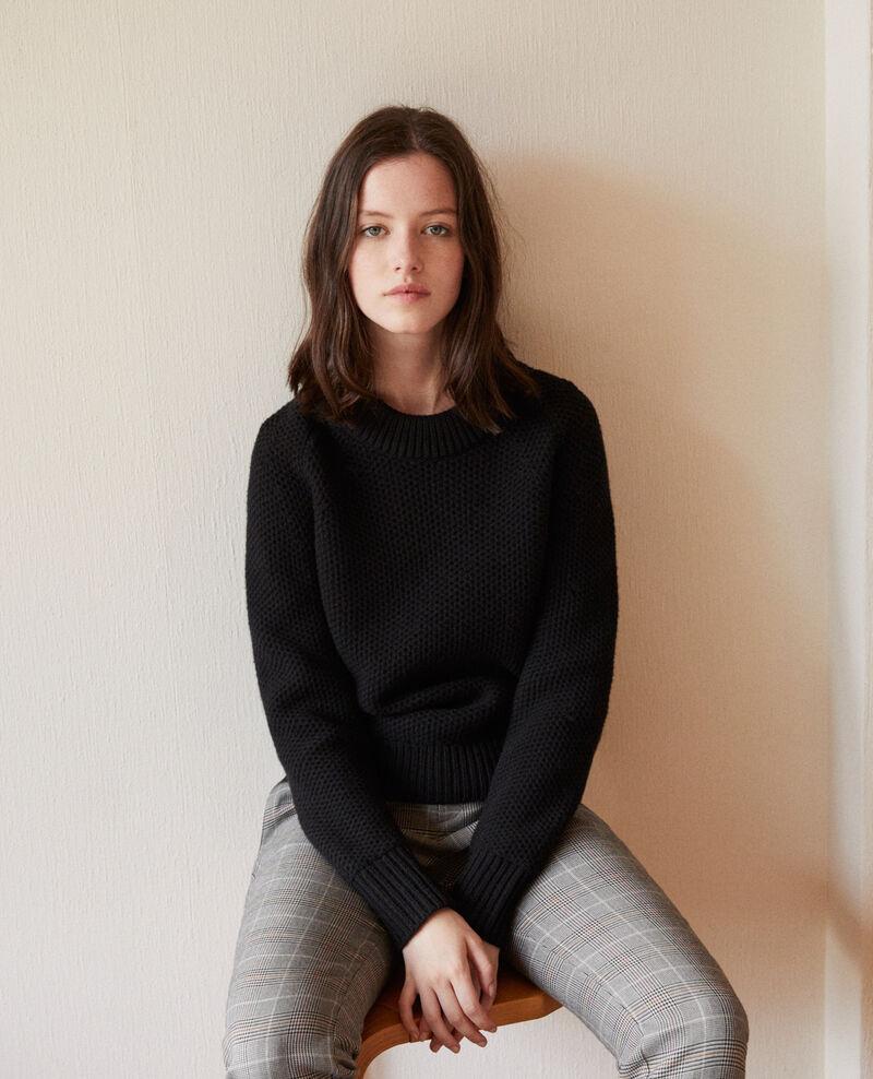 Jersey de lana Noir Ginseng