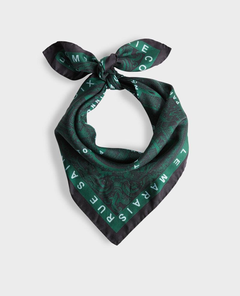 Foulard cuadrado de seda Military green Mamap