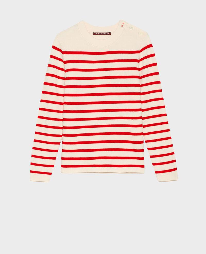 MADDY - Jersey marinero de lana Stripes fiery red gardenia Liselle