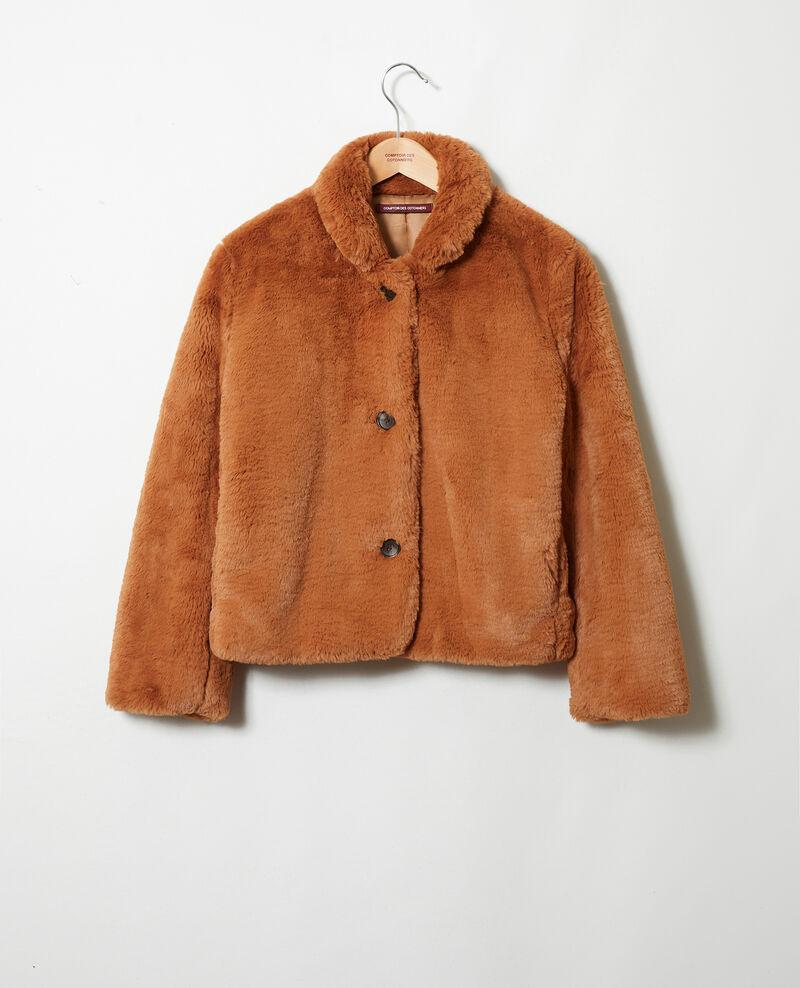 Abrigo corto de piel sintética Lion Jakou