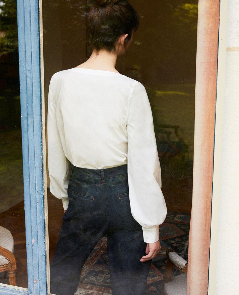 Blusa con cuello tunecino Coconut milk Jaillou