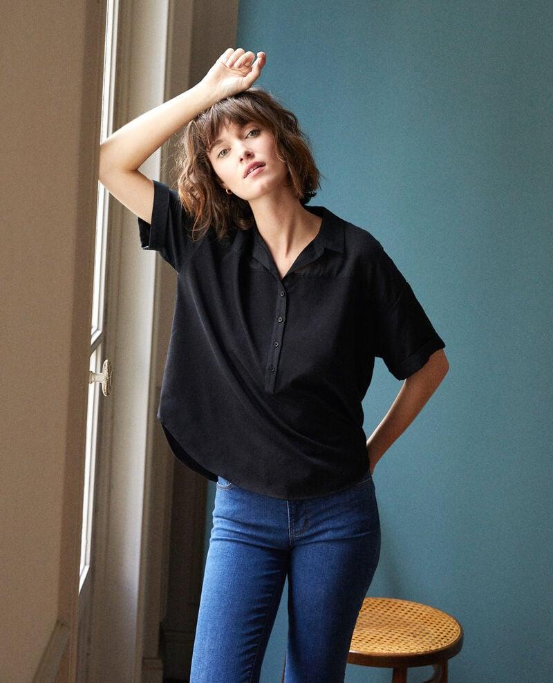 Camisa de doble tejido Noir Gaite
