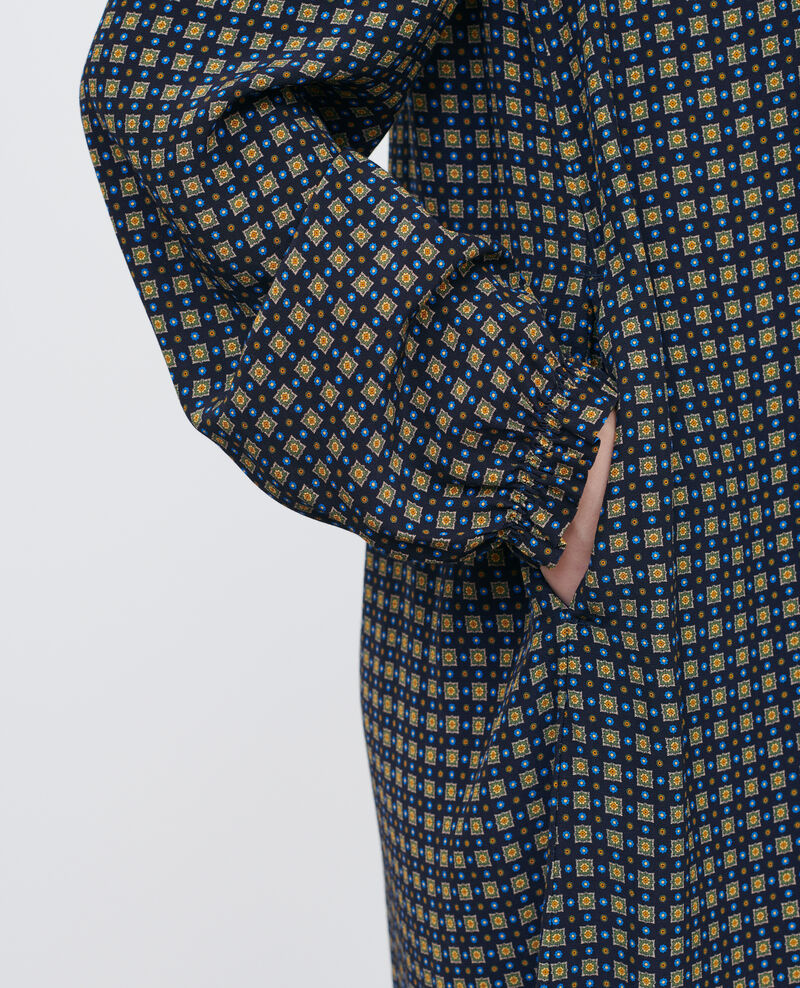 Vestido corto con fruncidos Cravate green Poisson