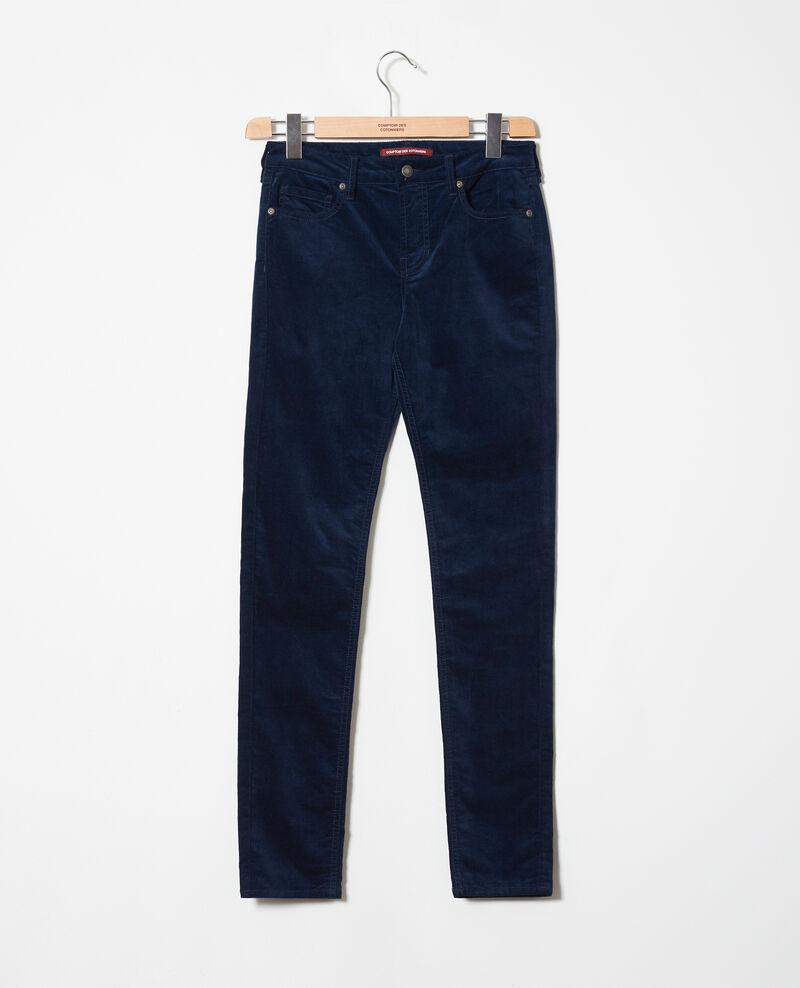 Pantalón de terciopelo liso Medieval blue Juillemin