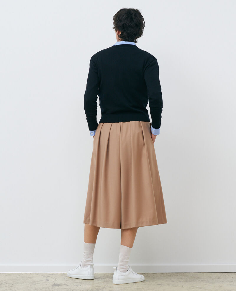 Cárdigan corto de lana merino Black beauty Palabre