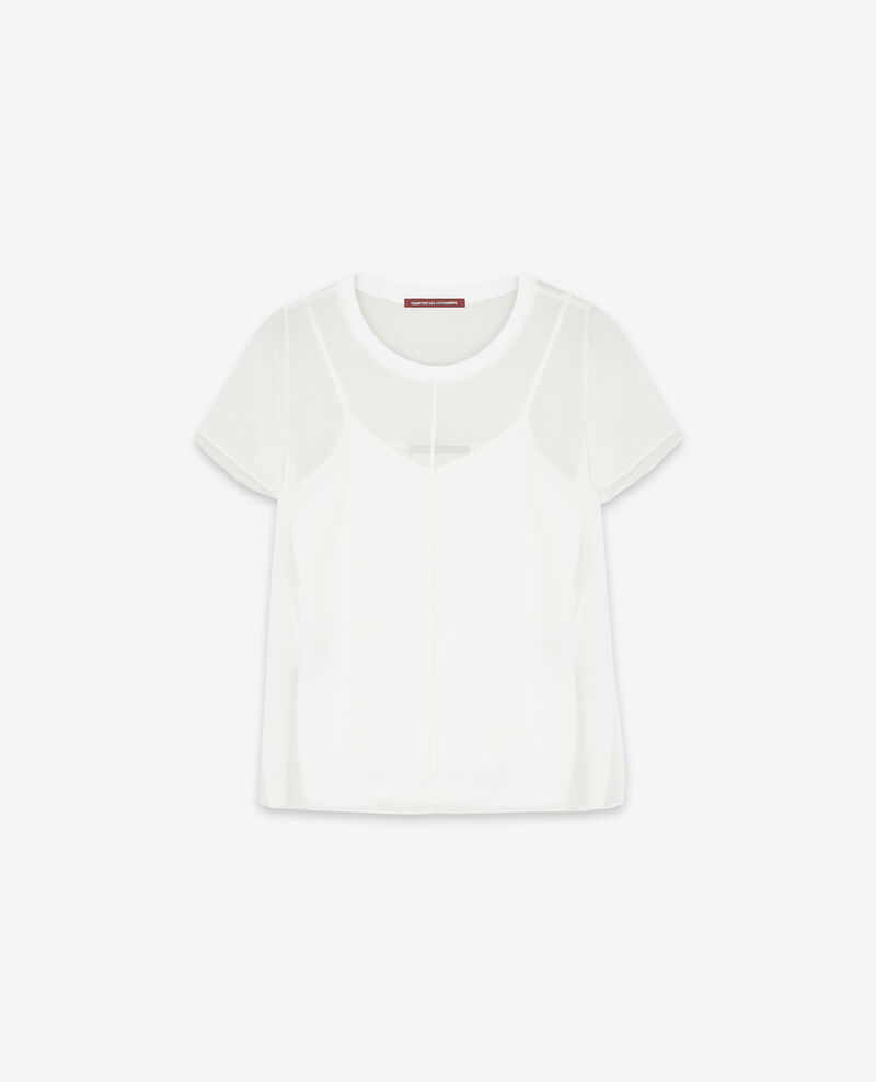 Camiseta de gasa de seda Off white Dartiste