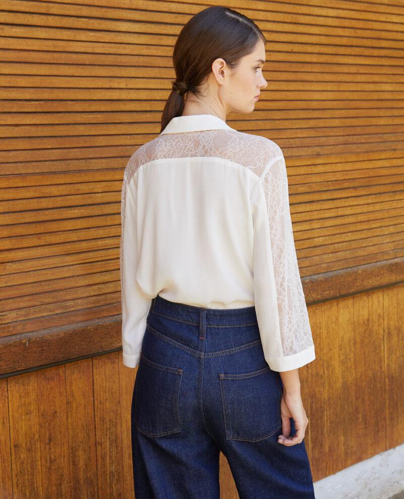Camisa con encaje Blanco Fondre