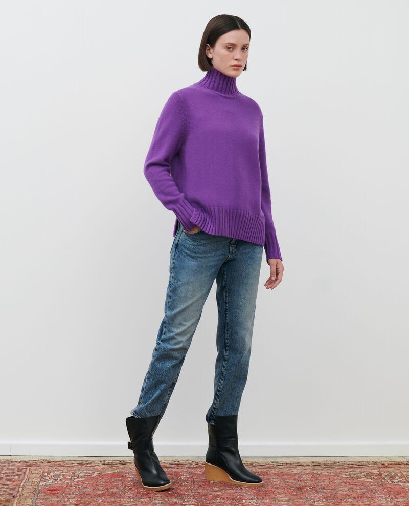 Jersey de lana con anchos canalés Brghtviolet Parques