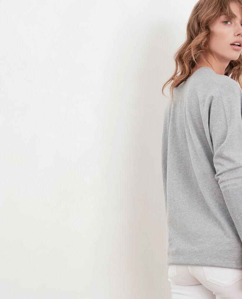 Jersey oversize de algodón y cachemir Light grey Fervent