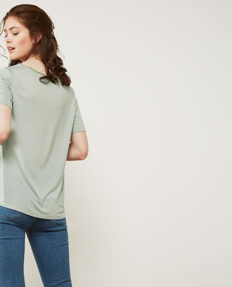 Camiseta de dos tejidos con seda Frost Dupalais