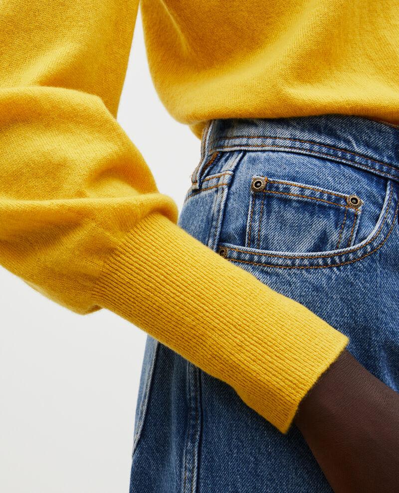 Jersey fino de cachemir con cuello de barco Lemon curry Manolita