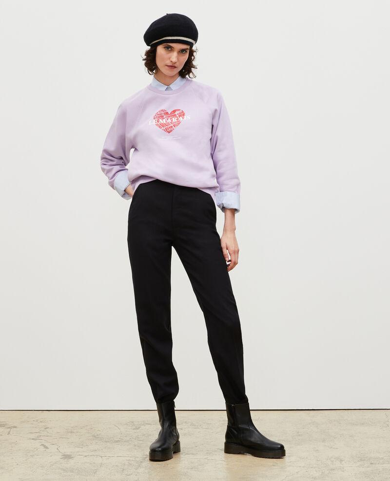 Sudadera de felpa Pastel lilac Madeleina
