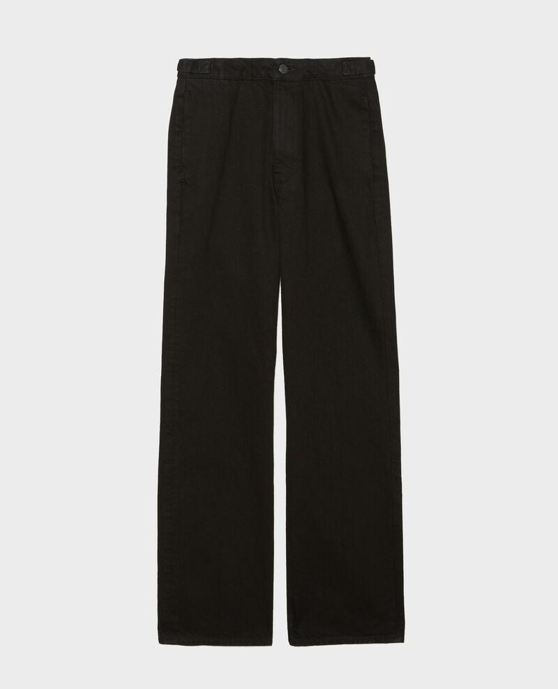 FLARE STRAIGHT - Pantalón ajustado en denim negro Noir denim Mespaul