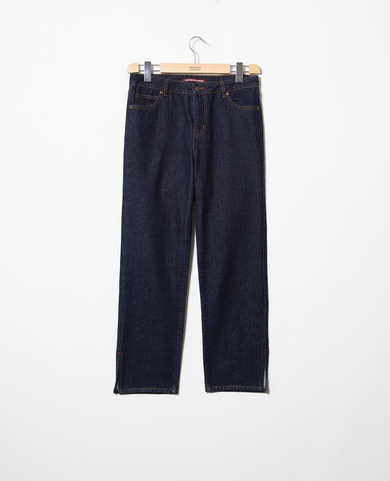 Jeans straight con abertura Rinse Istra