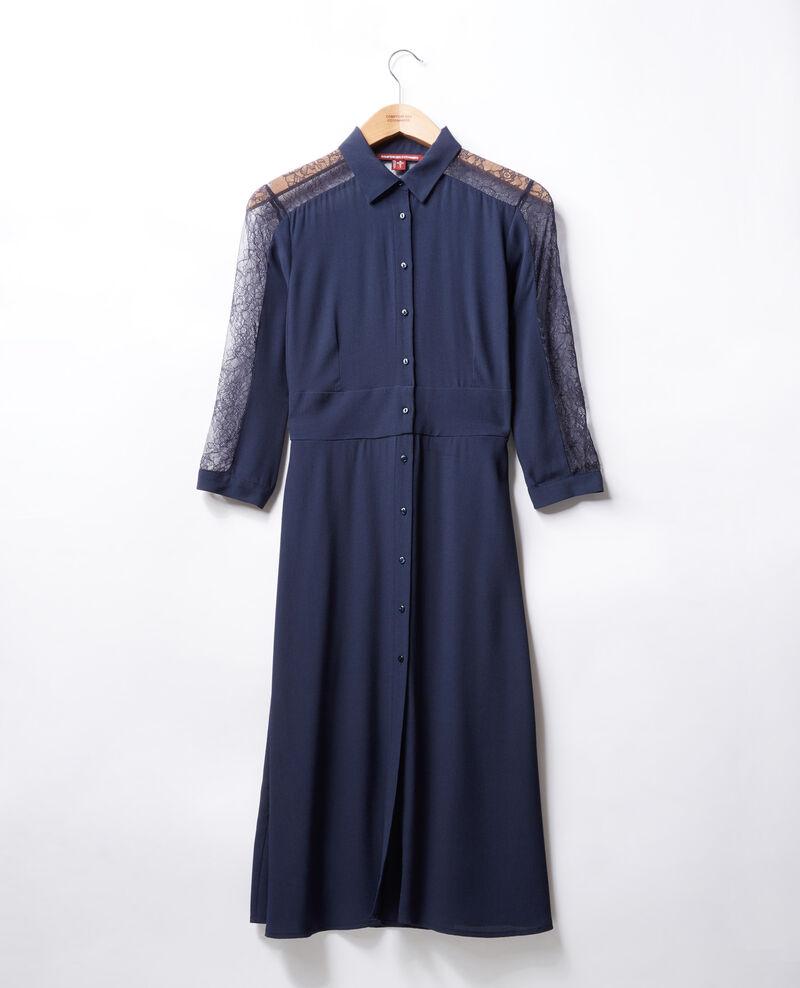 Vestido con encaje Azul Forte