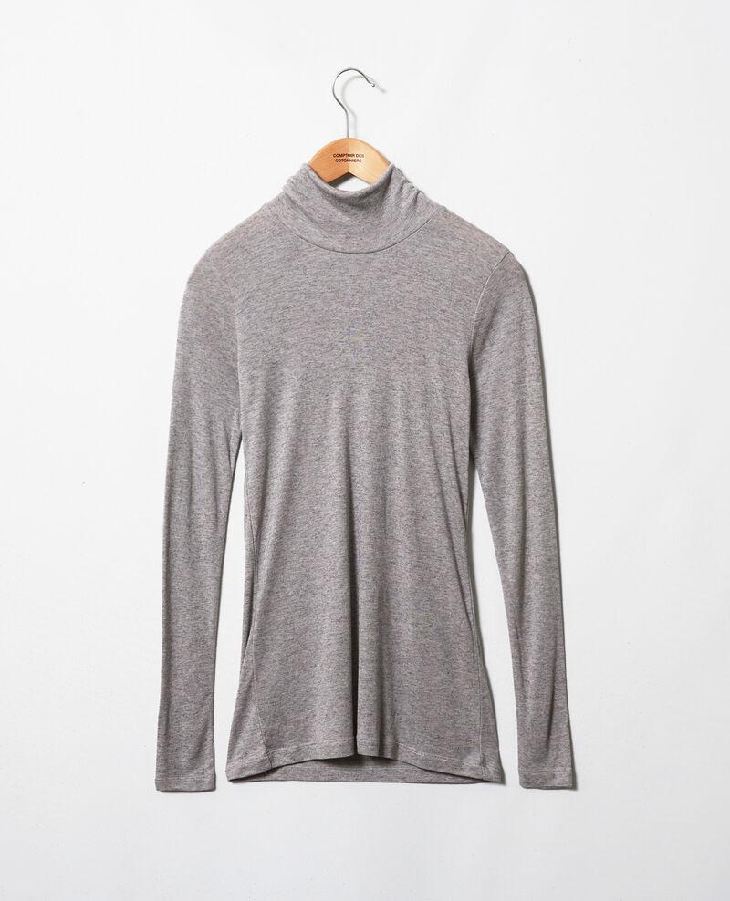 Camiseta cuello vuelto con cachemir Middle grey melange Jylka