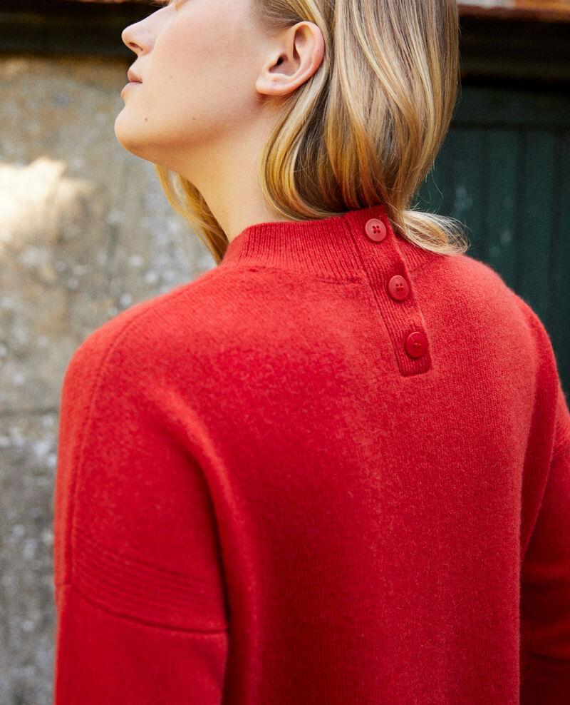 Jersey con botones en la espalda de 100% cachemir Molten lava Jook