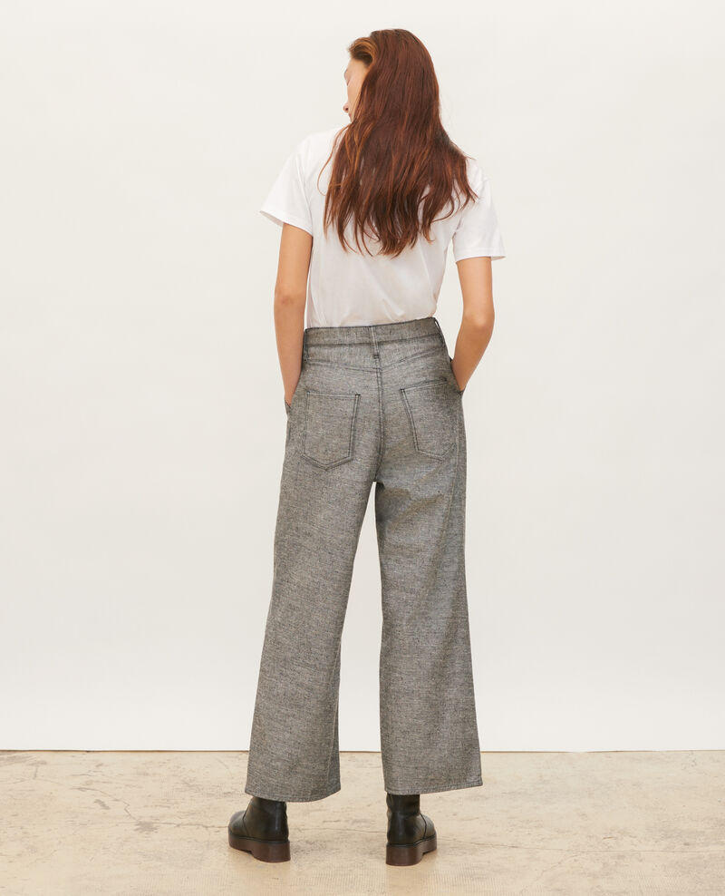 PLEATED - Pantalón ancho en denim gris Grey wash Maples