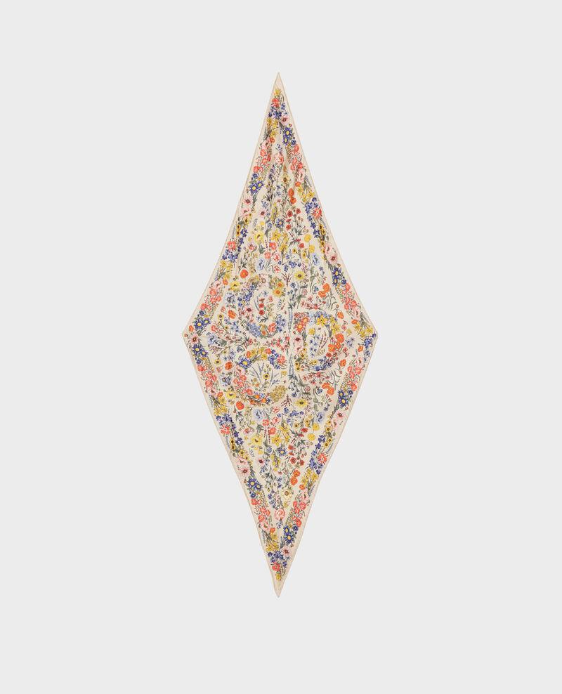 Fular con forma diamante de seda Tapioca Nage