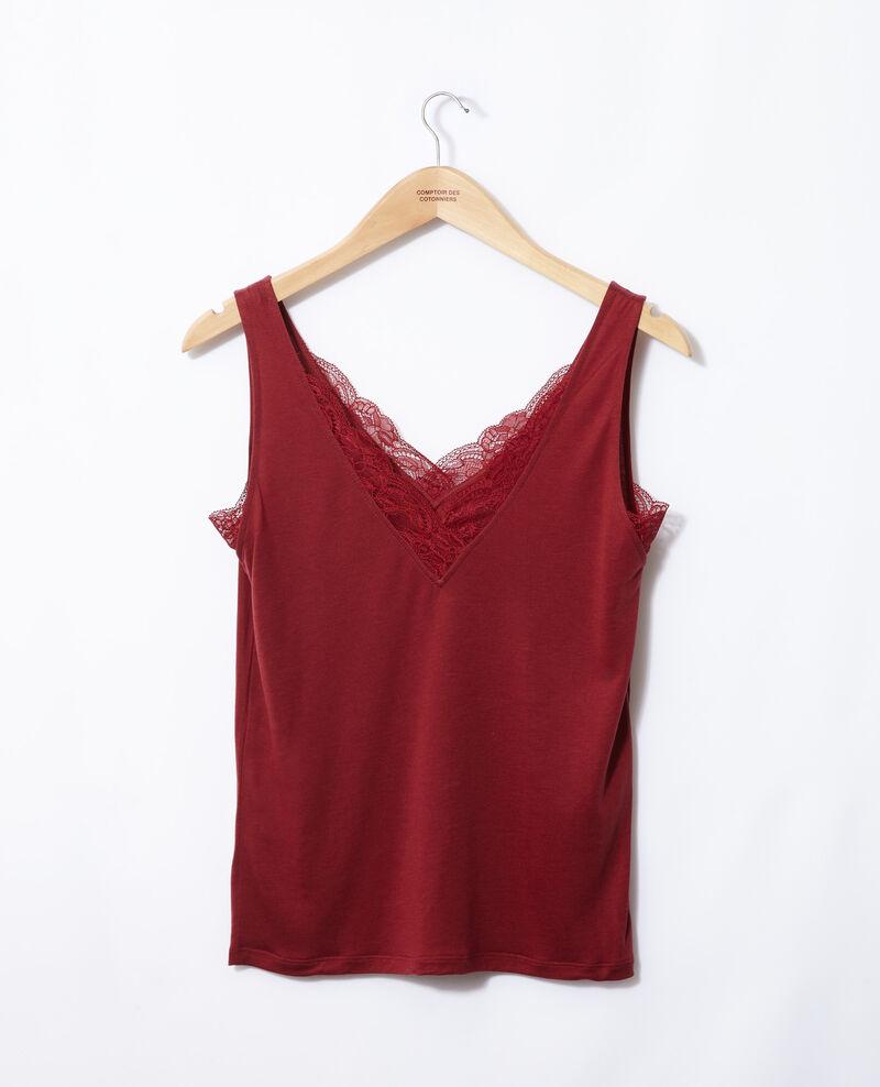 Camiseta de tirantes con encaje Rio red Gaia