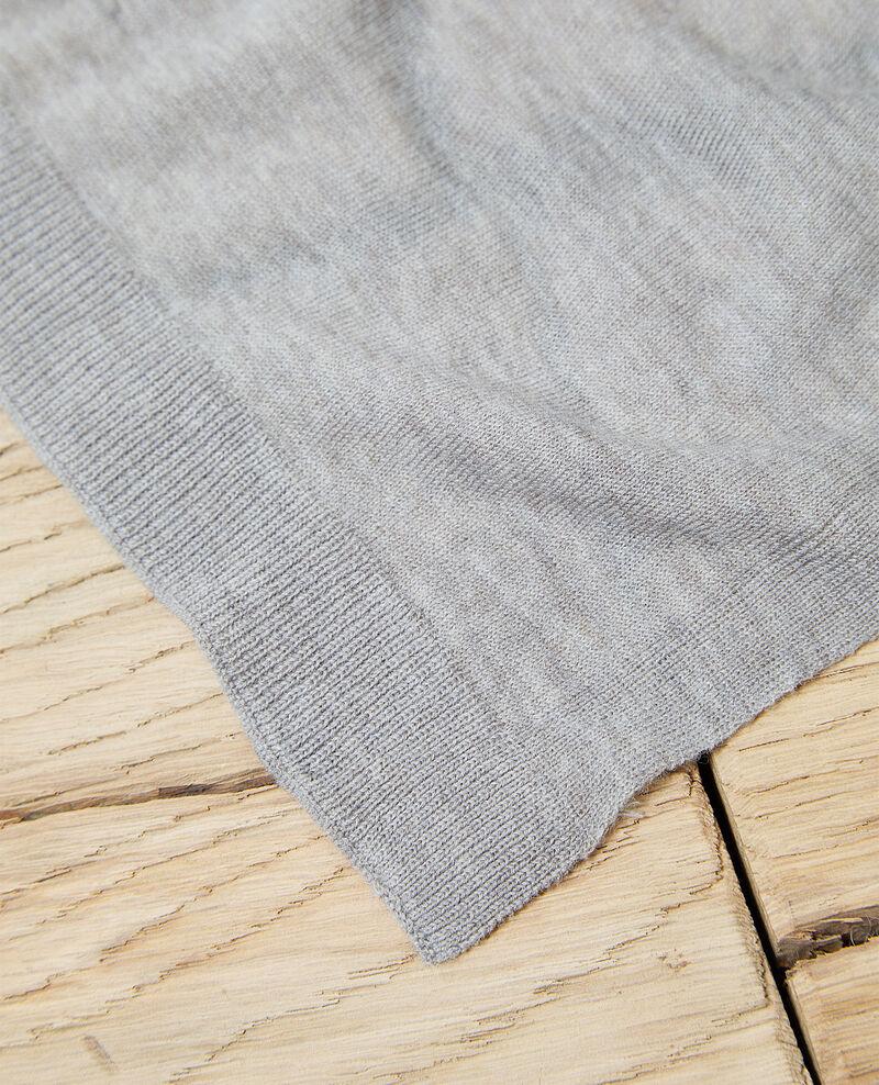 Bufanda de lana Heather light grey Iwool