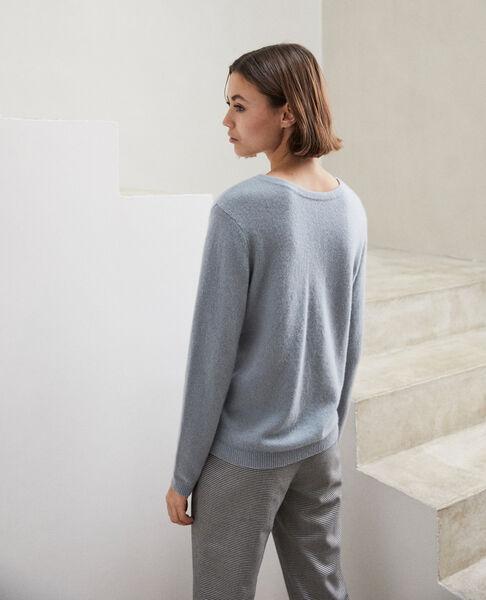 Comptoir des Cotonniers - Jersey cuello redondo de cachemir Blue mirage - 5