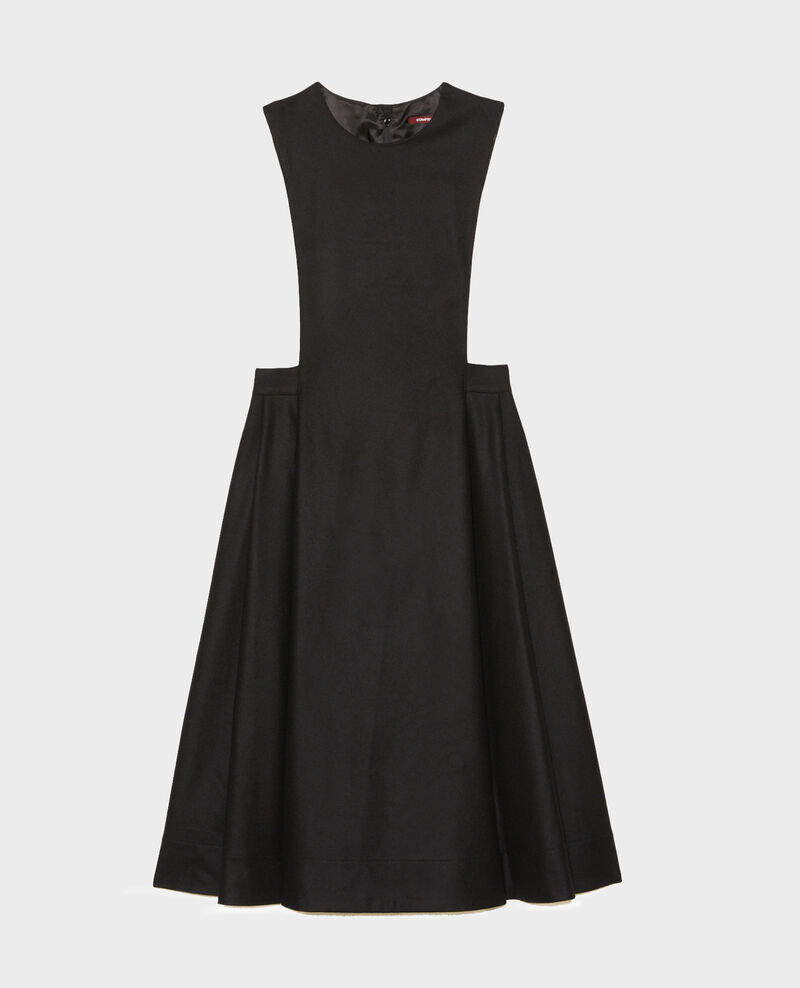 Vestido pichi de lana Black beauty Mantilly