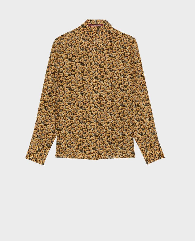 Camisa de seda con manga larga Print artdeco lemoncurry Misabethou