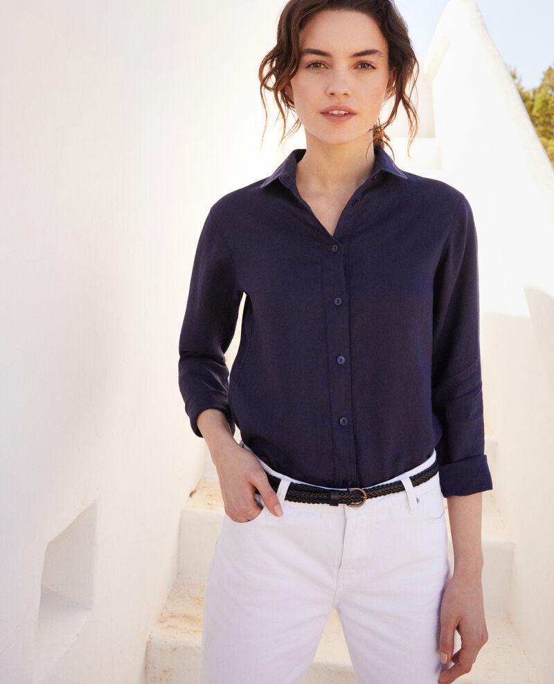 Camisa de lino Ink navy Igram