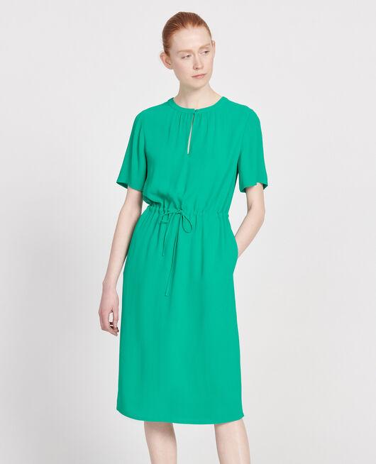 Vestido recto y fluido GOLF GREEN