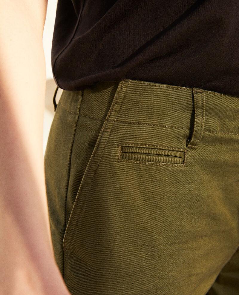 Pantalón de tela Cheng olive Irouba